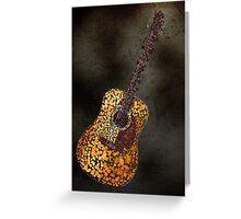 Abstract Guitar in Squares Greeting Card