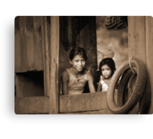 Duas Meninhas (Two Girls) Canvas Print