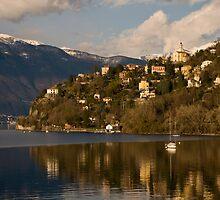 The Lago Maggiore, near the Swiss border by Michael Brewer