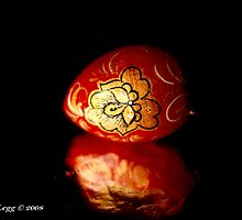 Red lacquered Easter Egg by pogomcl