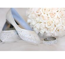 Slippers, Bracelet, Bouquet Photographic Print