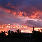 After the Storm..........sky on fire by Lozzie5243