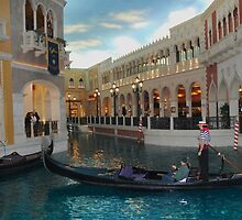 Gondolier at Grand Canal Shops ~ Venetian by Marjorie Wallace