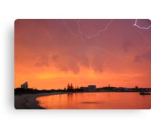 Sunset Lightning Koombana Bay Bunbury WA 22-3-10 Canvas Print
