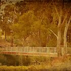 Footbridge over the Blackwood, Bridgetown, WA by Elaine Teague
