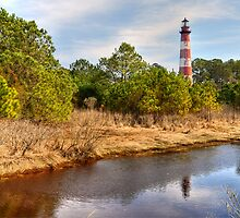 Reflections of Assateague Lighthouse by Monte Morton