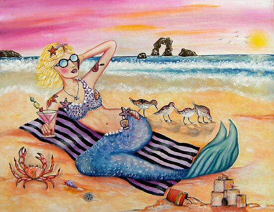 Mermaid on Vacation by stephanie allison