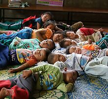 Shan kids napping by fabianfred