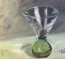 Tee Many Martoonies - Original Oil on Canvas by Claudia Goodell