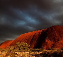 Stormy Light on Uluru by pcphotoart