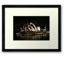 Opera House at Night, Sydney, Australia Framed Print