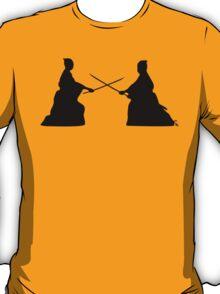 Duelling Samurai T-shirt T-Shirt