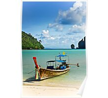 Thai Long Tail Boat Poster
