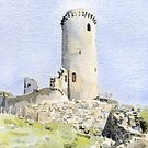 The tower at Piégut, France by ian osborne