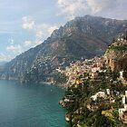 Village of Positano - Amalfi Coast by T.J. Martin