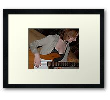 Lean Into That Bass Line Framed Print