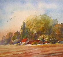 Autumn on the Marsh- Kent by Beatrice Cloake