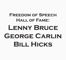 lenny bruce george carlin bill hicks by David Powell