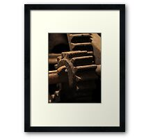 Old Cogwheel Framed Print