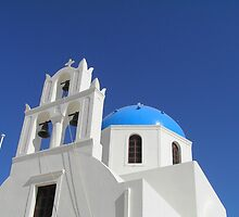 Chapel, Oia, Santorini by Christopher Biggs