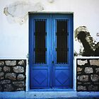Blue Door On White Wall, Greek Islands by Josh Wentz