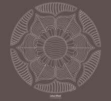Lotus Wheel [white design] by TheMandalaLady