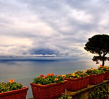 View of the Amalfi Coast from Villa Rufolo, Ravello, Campania, Italy by Andrew Jones