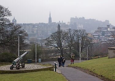 Auld Reekie From Calton Hill by Lynne Morris