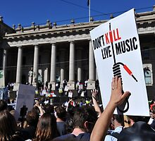 S.L.A.M. (Save Live Australian Music) Protest Rally XI. by Glenn Stephenson