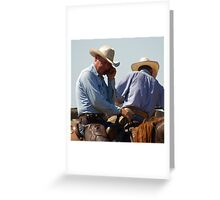 MODERN COWBOY Greeting Card