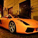 Lamborghini fires up the cobblestone street by Rommel Andrew Henricus