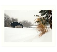 White Out in Rabbit Hash, KY Art Print