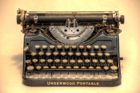 my underwood portable typewriter HDR by mark burban