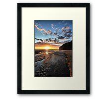 Strand River Flow - Ballybunion Framed Print