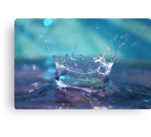 Soft Splash Canvas Print