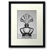 Perfume bottle in black and white - Print Framed Print