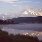 Sunrise on Denali by Wayne Hughes