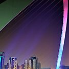 Colourful Span of the Millennium Bridge Gateshead by David Lewins LRPS