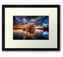 Storm Rock Framed Print