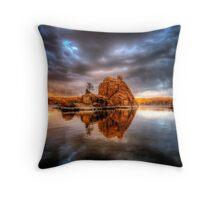 Storm Rock Throw Pillow