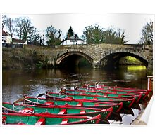 Boating on the River Nidd  Poster