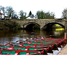 Boating on the River Nidd  Photographic Print