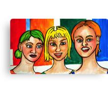 3 Strange Girls  Canvas Print