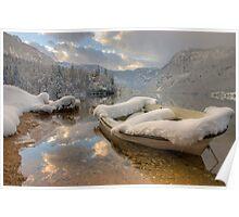 Snowy lake. Poster