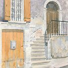 Doorway, Issigeac, France by ian osborne
