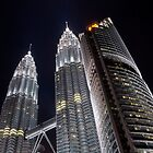 Petronas Towers at night by lgraham