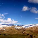 Hills north of Moffat, Scotland by Lynden
