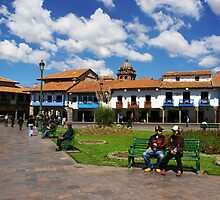 Blue Skies in Cusco by Elena Vazquez