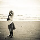 little girl . big ocean by wishcraft