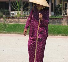 An old lady heads to market by DebHJ